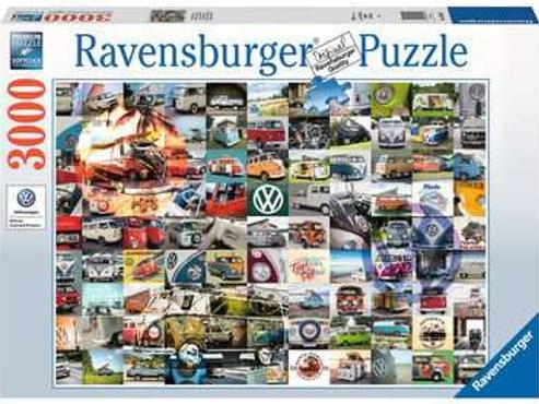 99 VW Campervan Moments, 3000pc