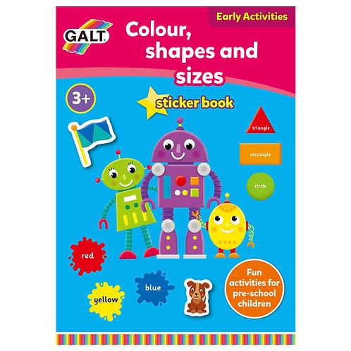 Colour Shape & Sizes Sticker Book  - Age 3+