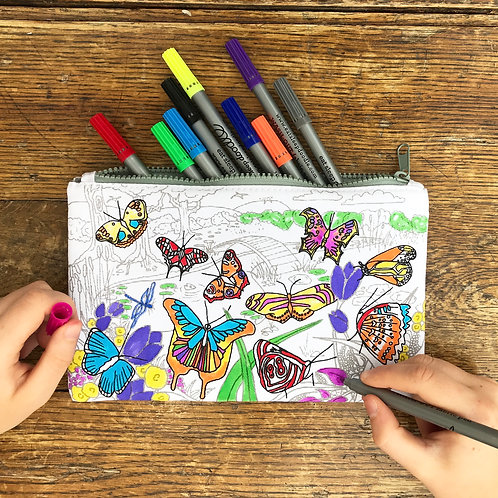 Butterfly - Colour In Pencil Case