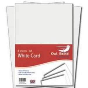 A4 White Card - 8 sheets