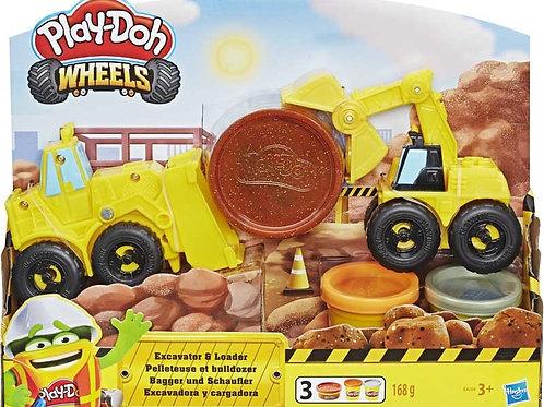 Playdoh Excavator n Loader