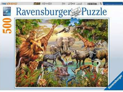 Animals at the Waterhole, 500pc