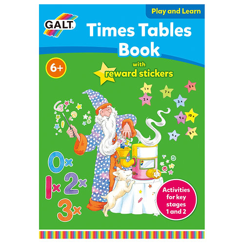Times Tables Book with Reward Stickers - Age 6+