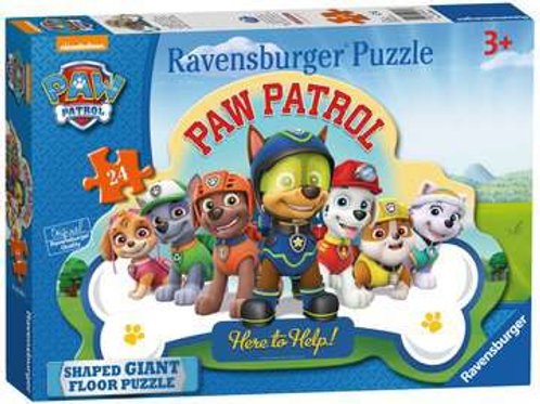 Paw Patrol Shaped Floor Puzzle, 24pc