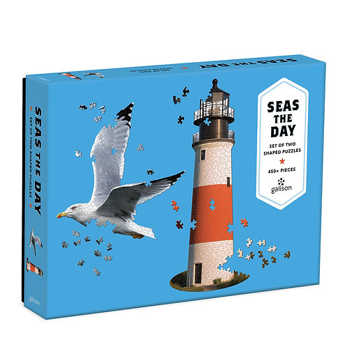 Seas The Day 2 in 1 Shaped Puzzle, 450pc +
