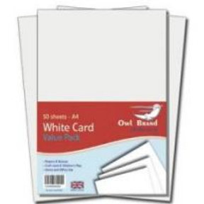 A4 White Card - 50 sheets