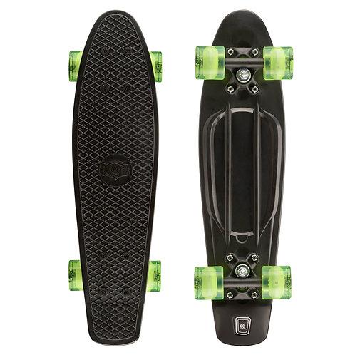 Black PU Skateboard with LED Wheels
