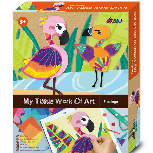 My Tissue Work of Art Flamingo