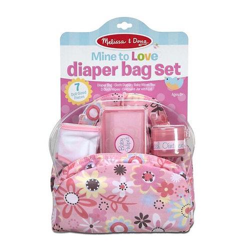 Dolls Nappy Bag Set