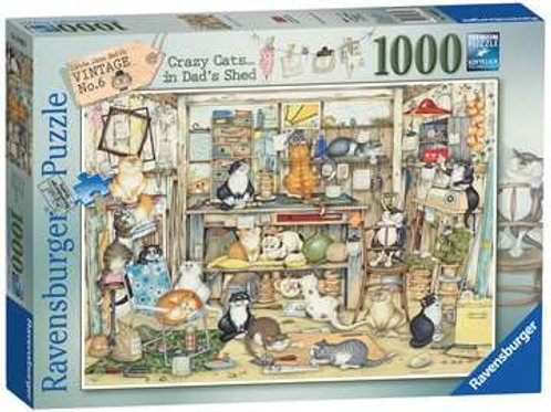 Crazy Cats Vintage No.6 - Dad's Shed, 1000pc
