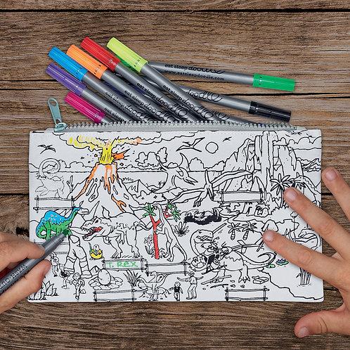 Dinosaur - Colour In Pencil Case