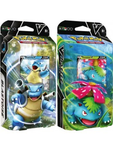 Pokemon Blastoise & Venusaur V Battle Decks