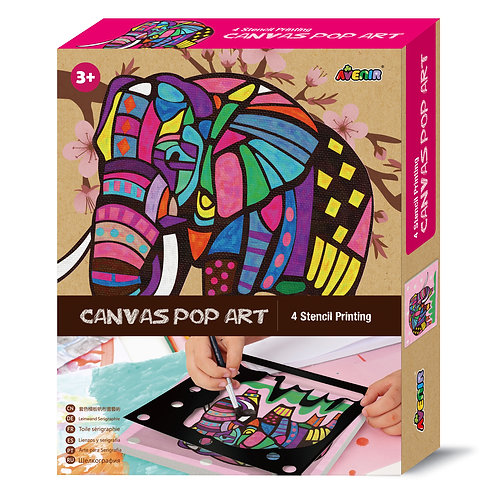 Canvas POP Art - Elephant