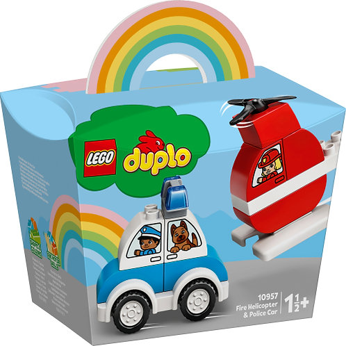 10957 Duplo - Fire Helicopter & Police Car
