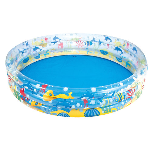 60 x 12inch Deep 3 Ring Paddling Pool