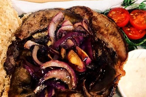 Hot Beef, Horseradish & Red Onion Bap