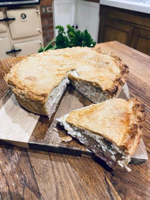 Homemade Chicken & Ham Pie
