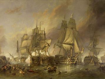 la battaglia di Trafalgar, apoteosi e fine del più grande genio navale militare di tutti i tempi