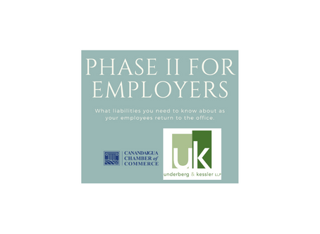 UPCOMING WEBINAR - Phase II: What employers need to know