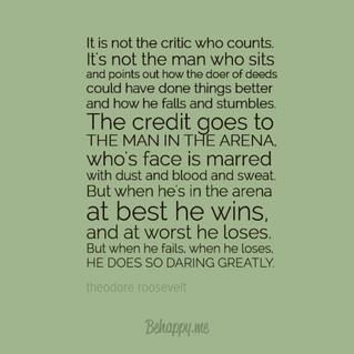 Daring greatly....