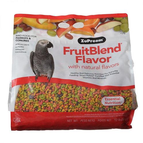 ZuPreem FruitBlend Flavor Bird Food for Parrots & Con  12lb