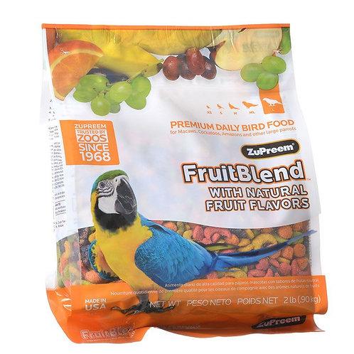 ZuPreem FruitBlend Flavor Bird Food for Large Birds  2lb