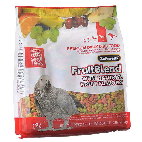 ZuPreem FruitBlend Flavor Bird Food for Parrots & Conures  2lb