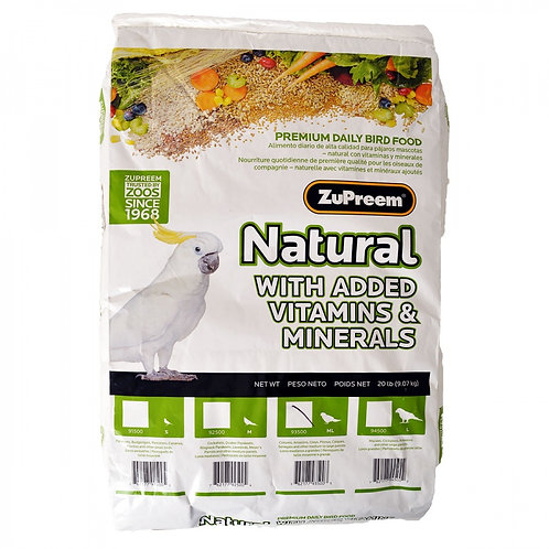 ZuPreem Natural Blend Bird Food - Parrot & Conure  20lb