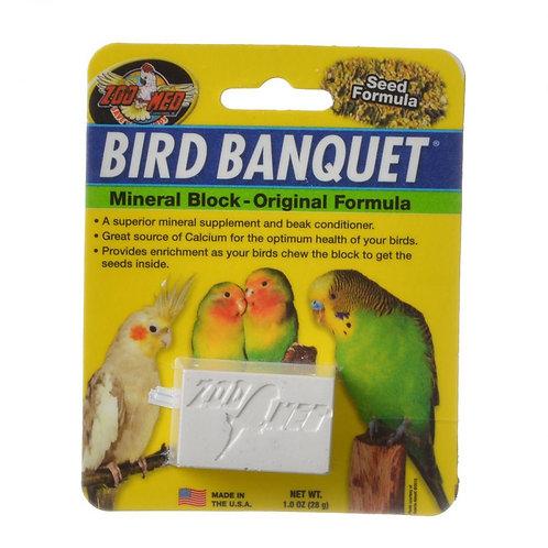 Zoo Med Bird Banquet Mineral Block - Original Seed Formula  1oz