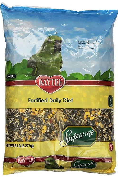 Kaytee Supreme Natural Blend Bird Food - Parrot  5lb
