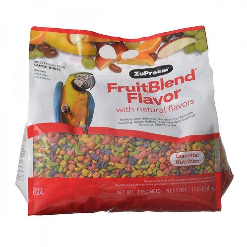 ZuPreem FruitBlend Flavor Bird Food for Large Birds  12lb