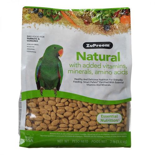 ZuPreem Natural Blend Bird Food - Parrot & Conure  3.25lb