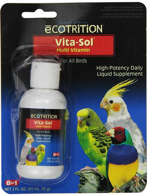 Ecotrition Vita-Sol for Birds  2oz