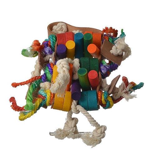 Penn Plax Bird Life Leather-Kabob Lrg Parrot Toy