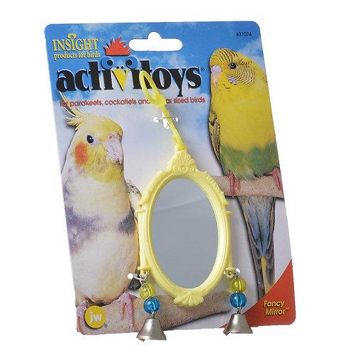 JW Insight Fancy Mirror Bird Toy - Assorted