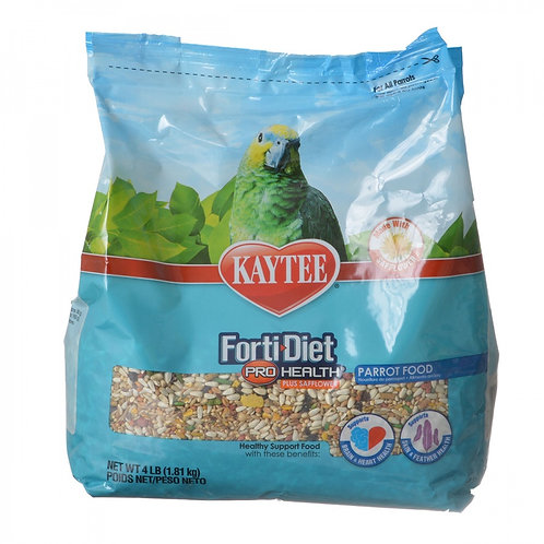 Kaytee Forti-Diet Pro Health Parrot Food with Safflower 4lb