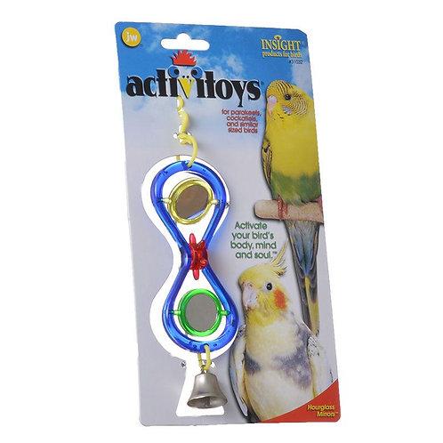 JW Insight Hour Glass Mirrors Bird Toy