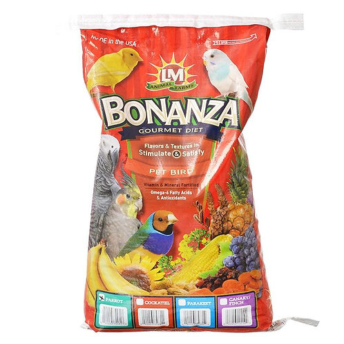 LM Animal Farms Bonanza Large Parrot Diet  20lb