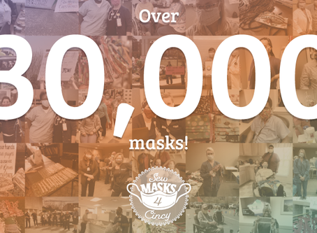 4.5 months = Over 30,000 masks!