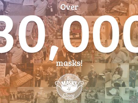 4.5 months = Over 30,000 masks!