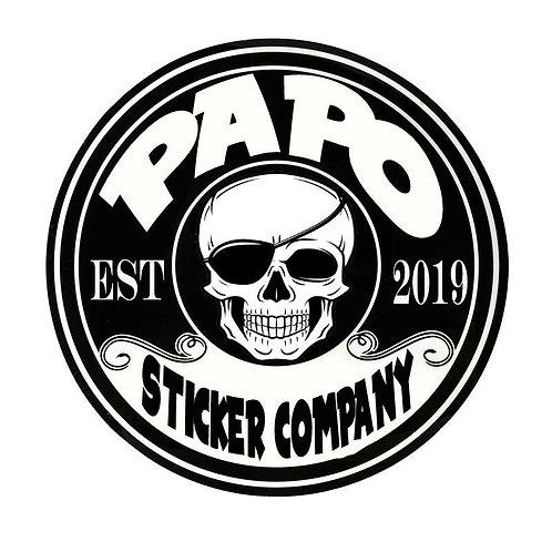 "PAPO Sticker company - 3"" round"