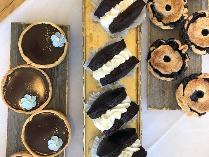 Pies, chocolate tarts, and whoopie pies