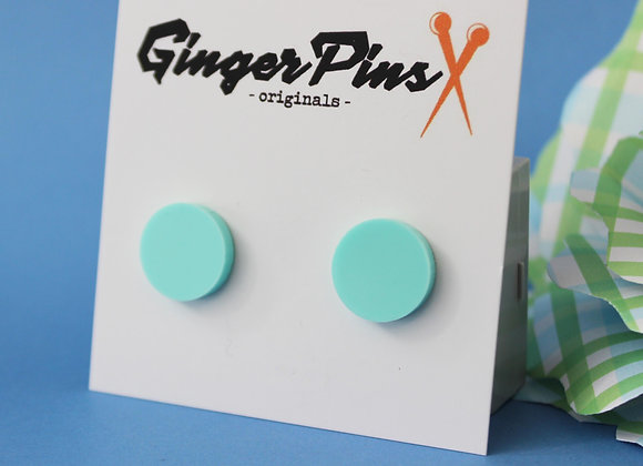 Circle Studs Timid Teal