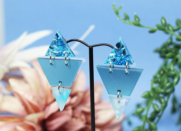 Blue Triangle Dangles