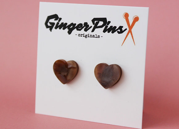 Heartthrob Studs Chocolate Marble