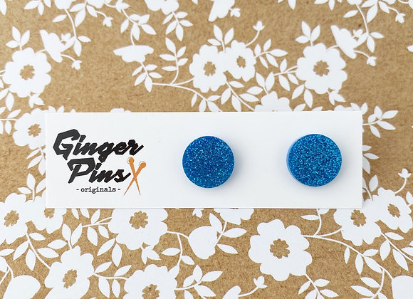 Circle Studs All That Glitters Light Blue