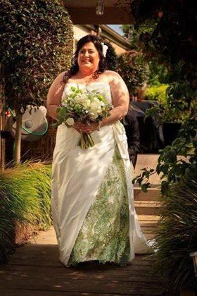 Customised wedding dress