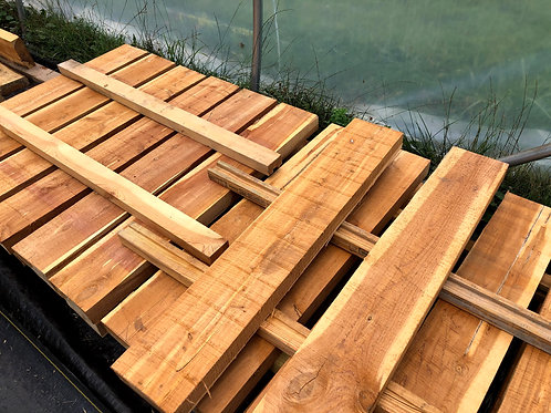 Build your own garden bed with our pre-cut 3X5 boards and deck screws.
