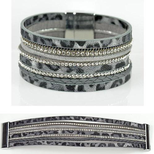 Bracelet strass Bracelet Strass Effet manchette multirang fermoir aimanté New Collection -Cosmenaturbio