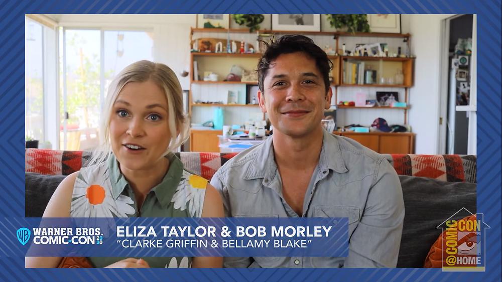 Eliza Taylor e Bob Morley mandam vídeo para o último painel de The 100 na San Diego Comic-Con